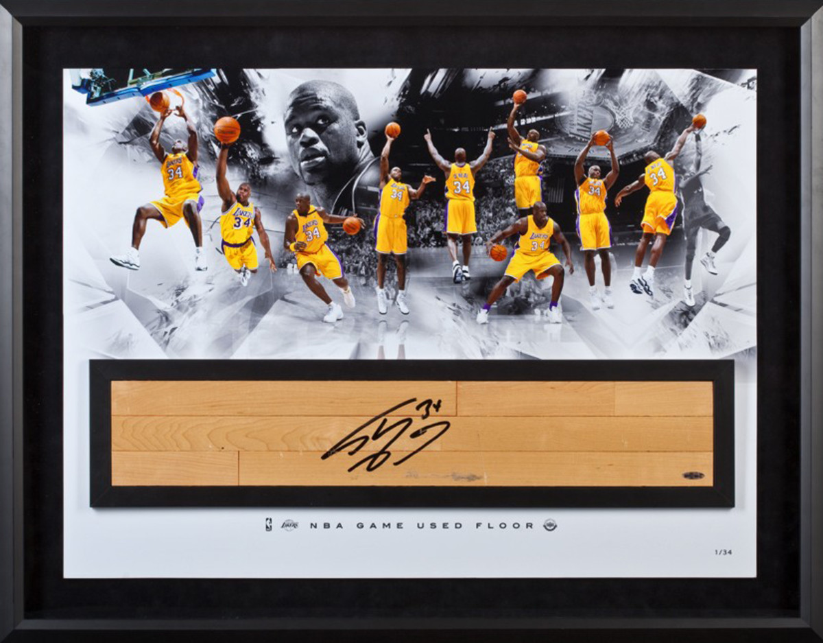 shaquille-oneal-autographed-nba-game-used-floor-big-aristotle-upper-deck-authenticated