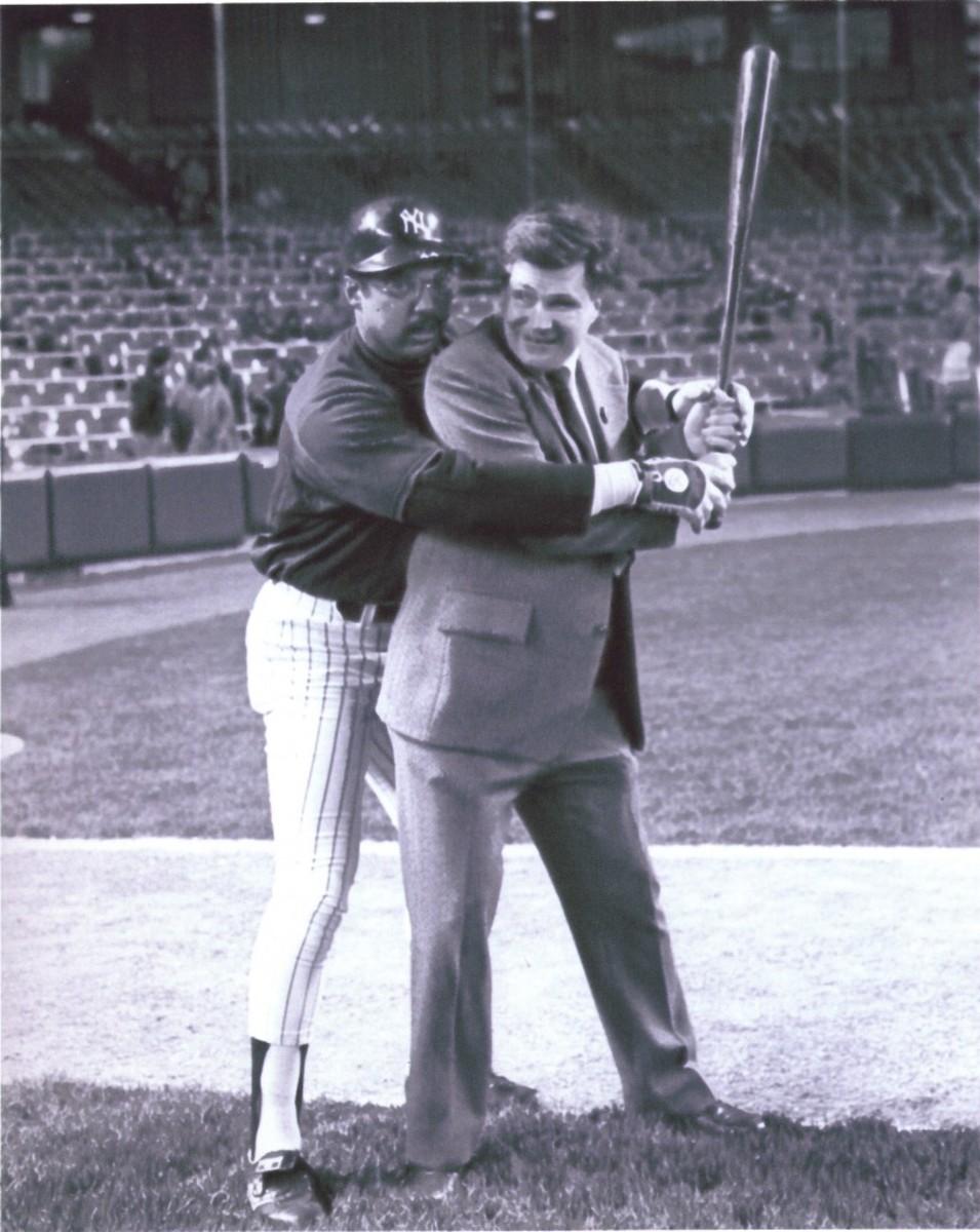 Ed and Reggie at Bat