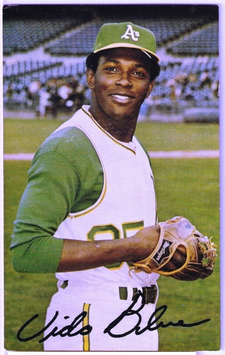 This Vida Blue postcard got McWilliams into the major league of sports portrait photographers and help blossom a life-long relationship with the pitcher.