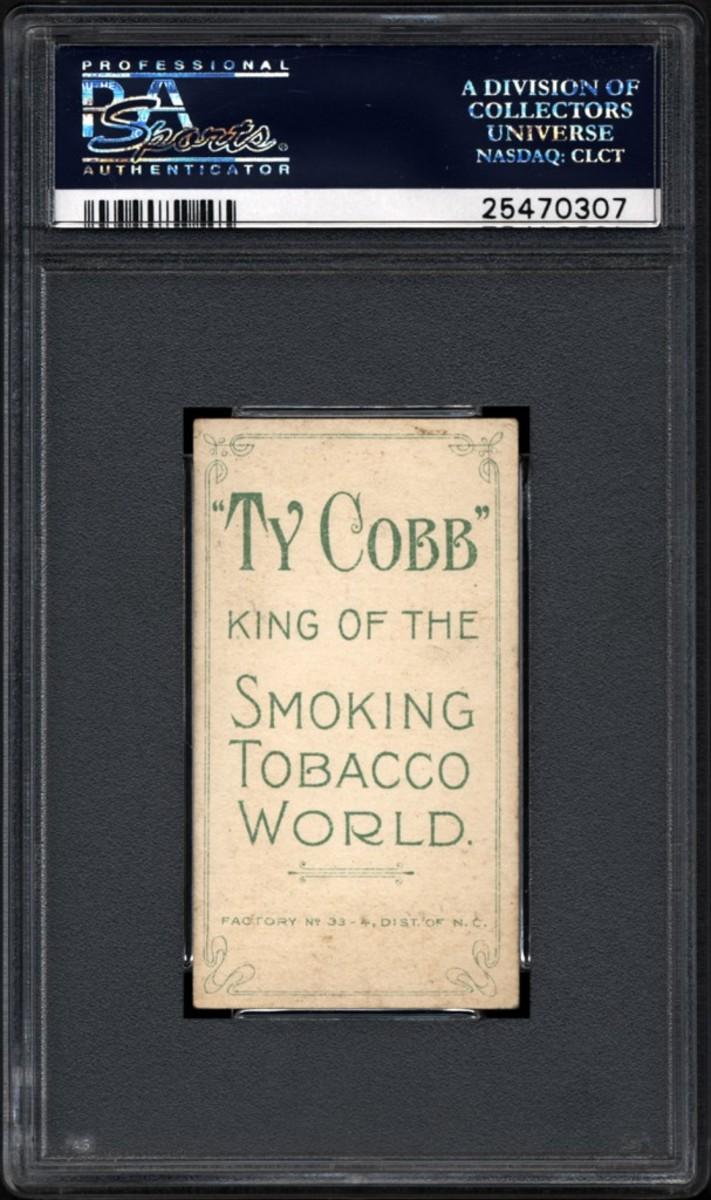 T206 Ty Cobb Back 4.5 back