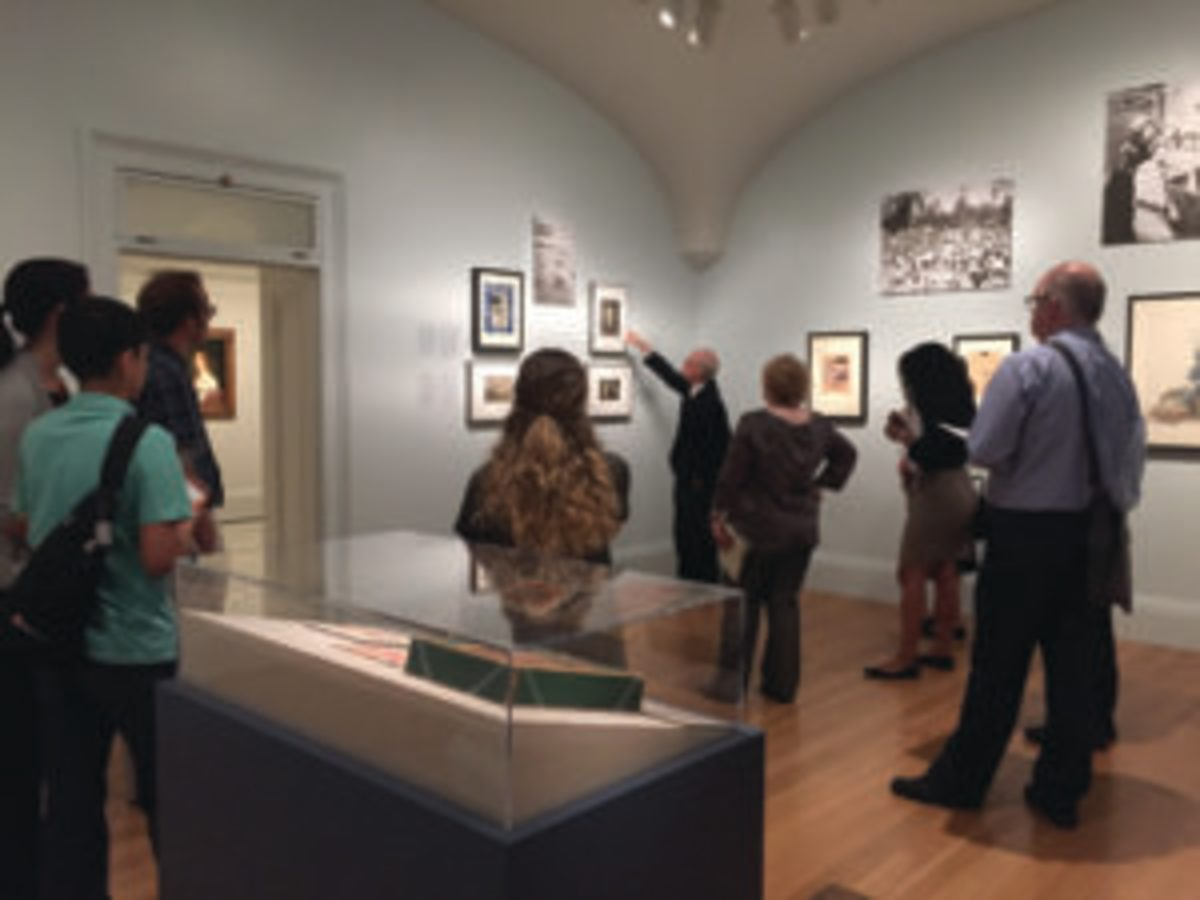 Attendees of the Babe Ruth Exhibition learn about the life and times of Ruth. (Photo Credit: One Life: Babe Ruth. Matailong Du, Smithsonian's National Portrait Gallery)