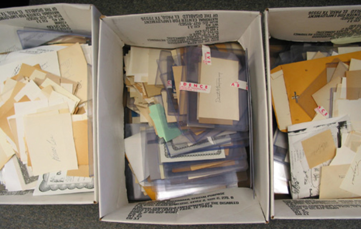 These boxes of forged cuts represent only a small sampling of the tens of thousands produced by the gang. The FBI took this photo at its 2000 press conference announcing the bust of the ring and it has not been shown to the public before, like several of the images accompanying this article.
