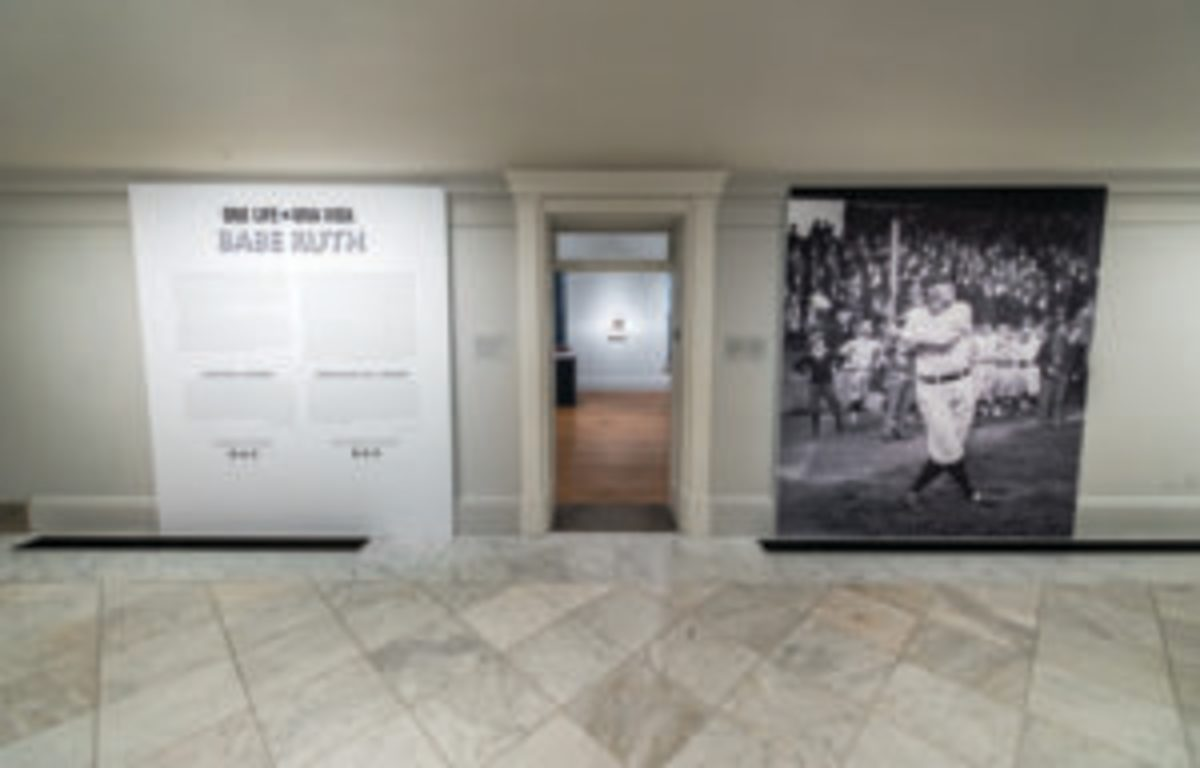 A Babe Ruth Exhibition is open through May 21 at the Smithsonian Institution's National Portrait Gallery. (Photo Credit: One Life: Babe Ruth. Matailong Du, Smithsonian's National Portrait Gallery)