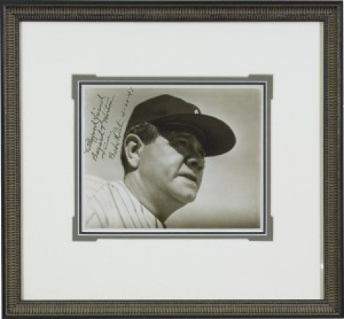 MLBabe Ruth Autographed Image