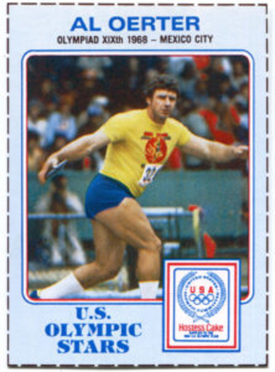 "Hostess' ""U.S. Olympic Stars"" cards featured powder-blue borders instead of the standard white borders."