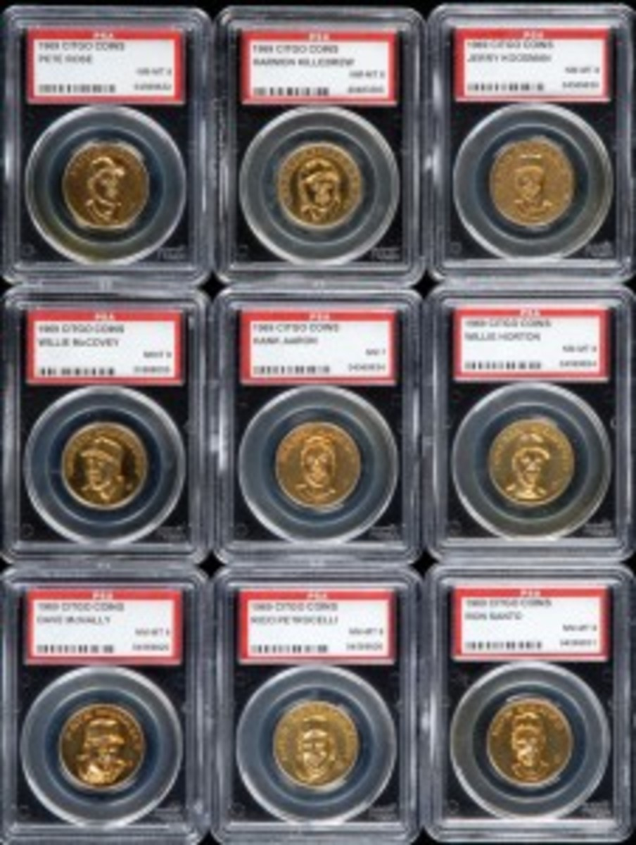 In 2009, the No. 1 rated 1969 Citgo Coins graded set sold for less than $400.