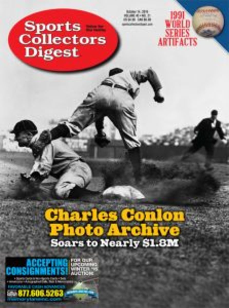 This article originally appeared in Sports Collectors Digest magazine. Stay up-to-date with the happenings of the sports hobby with a subscription to SCD. One year (26 issues) print is $26 and digital is $20. Learn more>>>