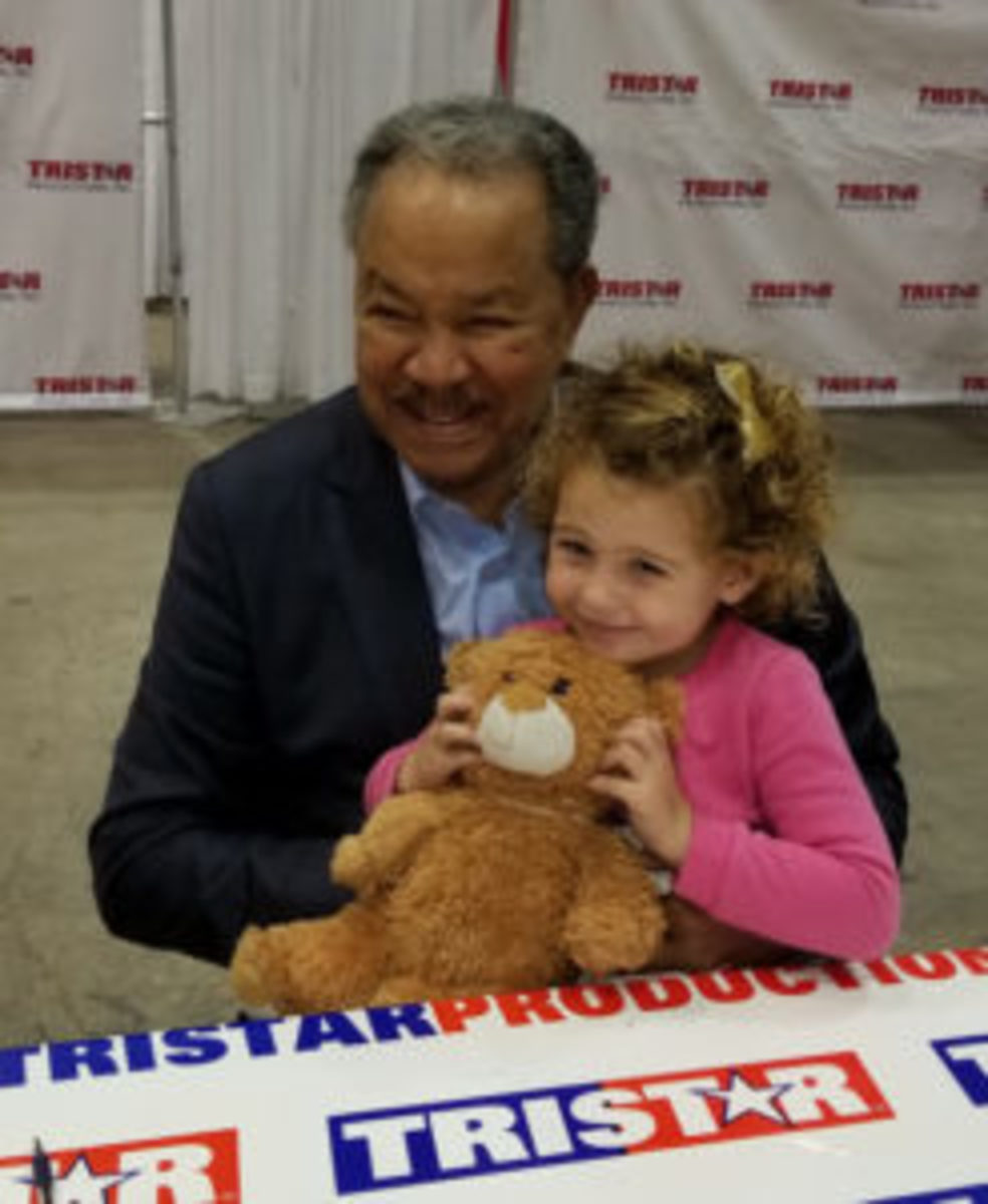 Baseball Hall of Famer Juan Marichal was all smiles with this young fan.