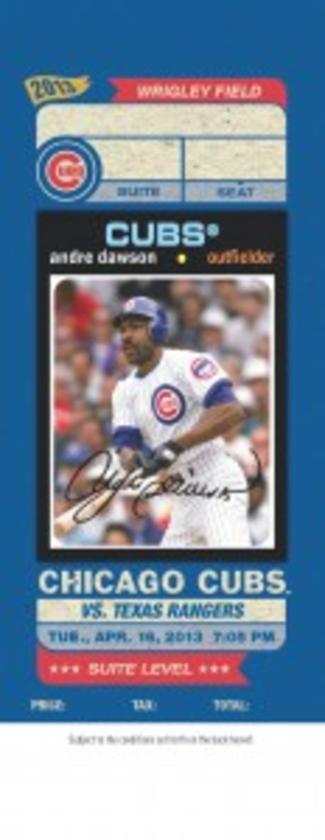 After initially thinking of a way to spice up the design of game tickets by using images of Cubs cards, the Chicago organization and Topps created a special card set for 2013.