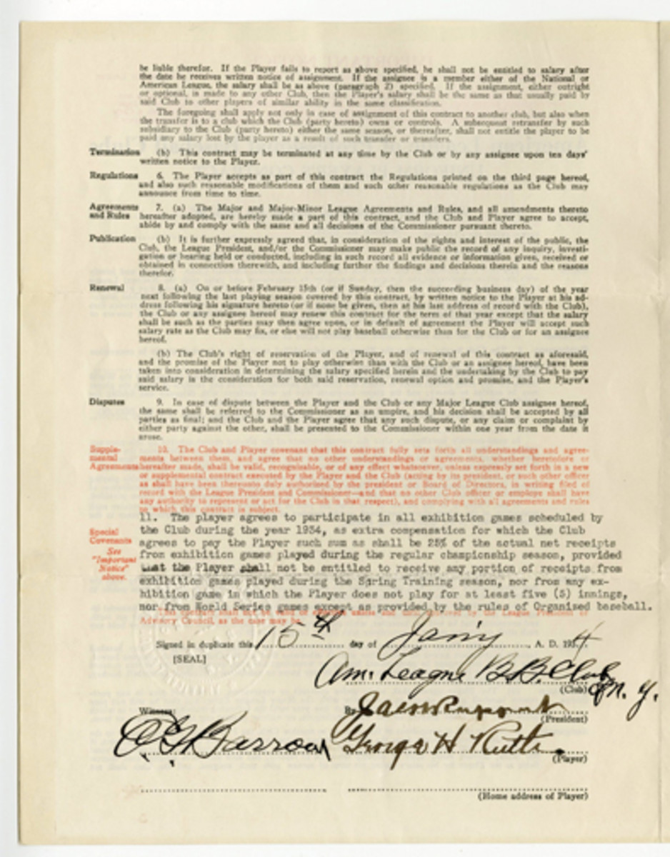 1934Ruthcontract