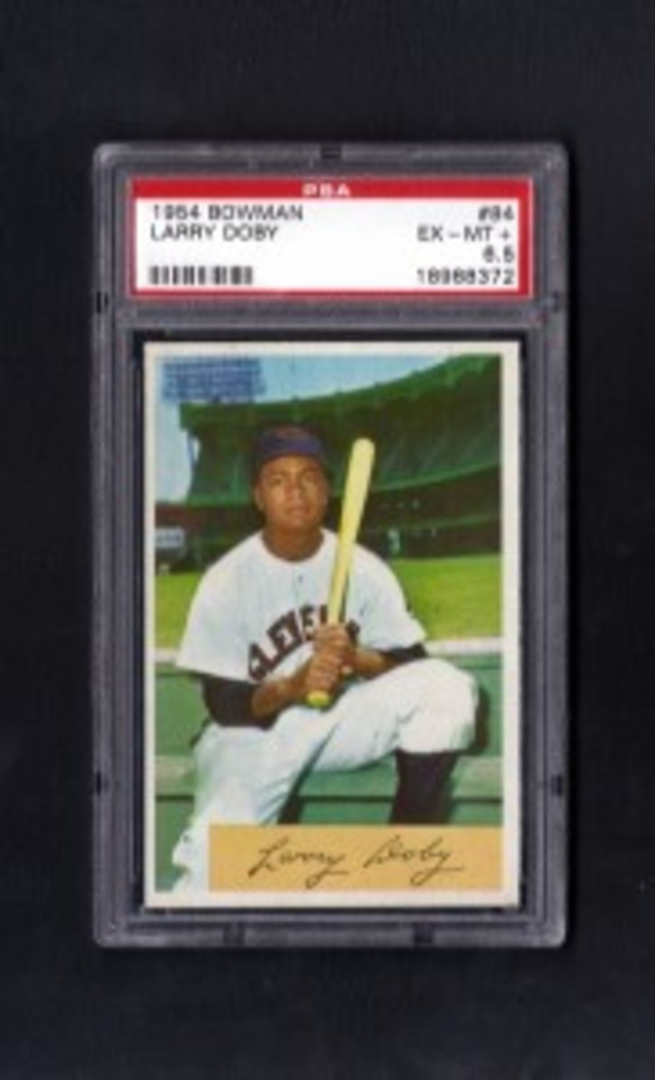 1954 Bowman Larry DobyPSA6.5