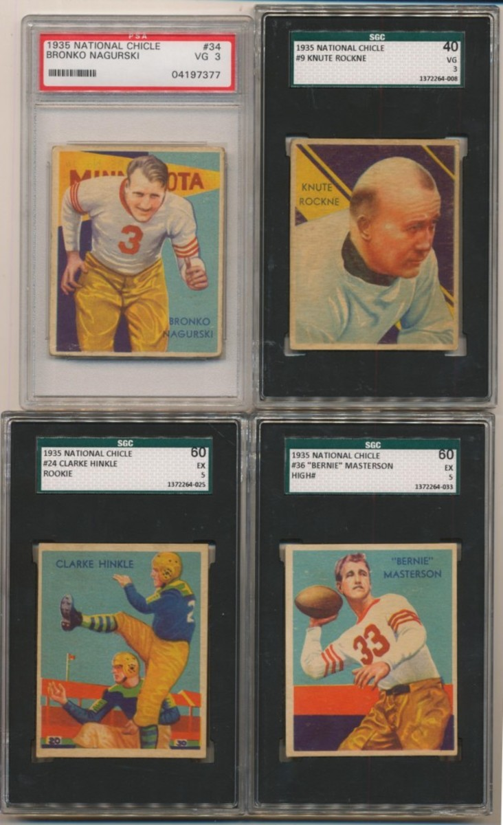 Clean Sweep is currently offering a 1935 National Chicle near set with Nagurski.
