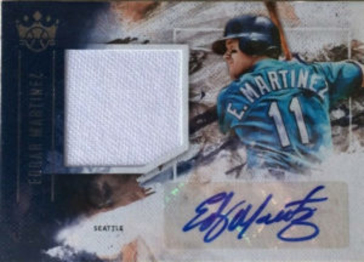An autograph relic card featuring Edgar Martinez.