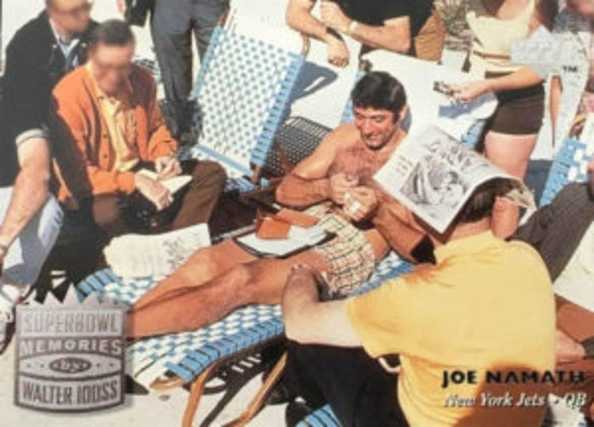 New York Jets QB Joe Namath didn't let his guaranteeing a victory in Super Bowl III keep him from enjoying himself during the week prior to the game.