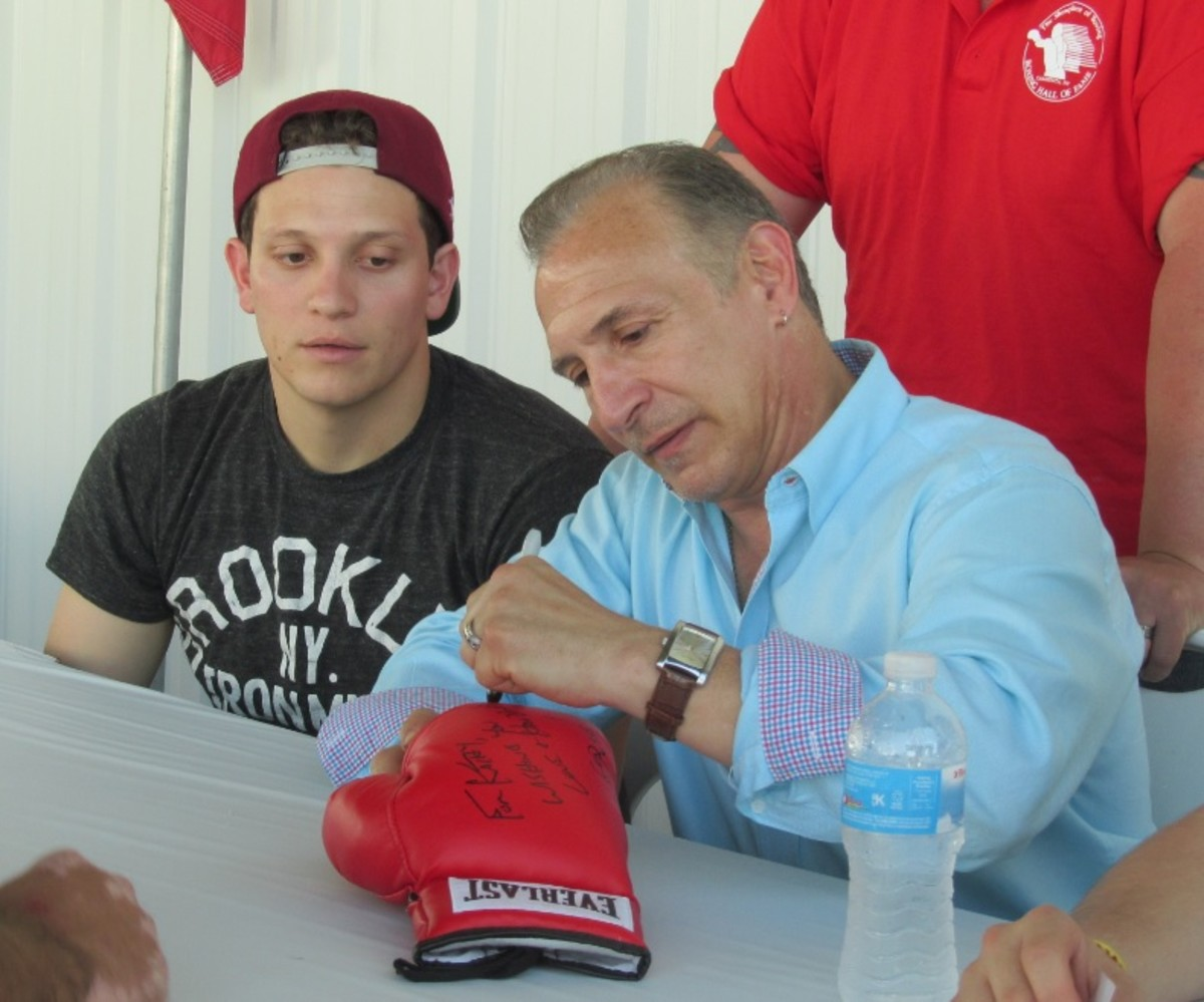 Ray Mancini was a signing star during the Boxing HOF weekend. Photos by Robert Kunz.