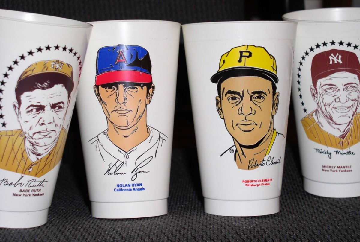 Slurpees are close to a 50th anniversary salute, but it was the 1970s sports cups that really put them on the map for collectors.