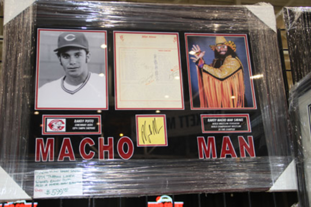 """How many know that Randy """"Macho Man"""" Savage played minor league baseball and was known as Randy Poffo? Better yet, who has seen a scorecard featuring Poffo and signed by the future wrestler?"""
