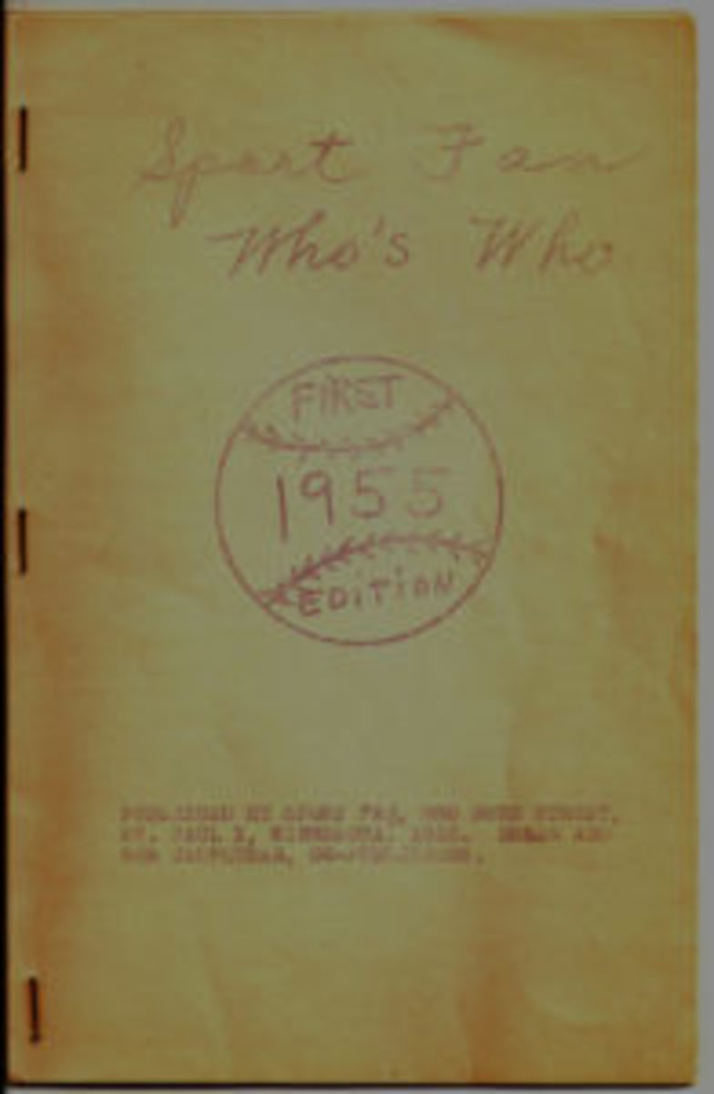 Jaspersen's first directory: Sport Fan Who's Who 1955.
