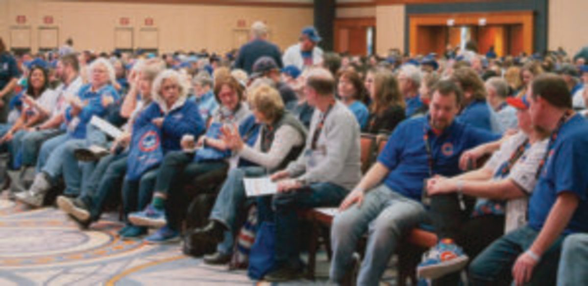 Plenty of Cubs fans attended the Saturday morning panel discussion at the Cubs Convention.