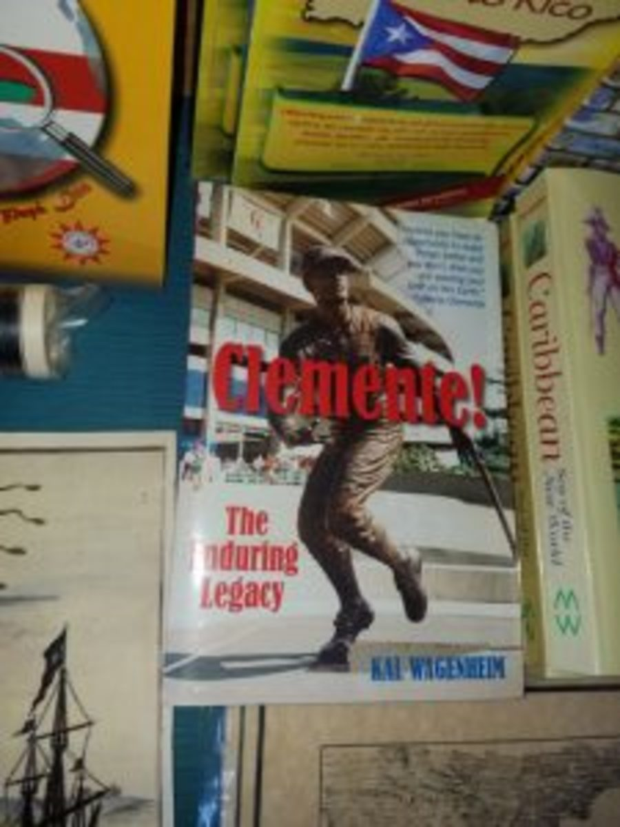 Books about Roberto Clemente were found at a shop in Puerto Rico.