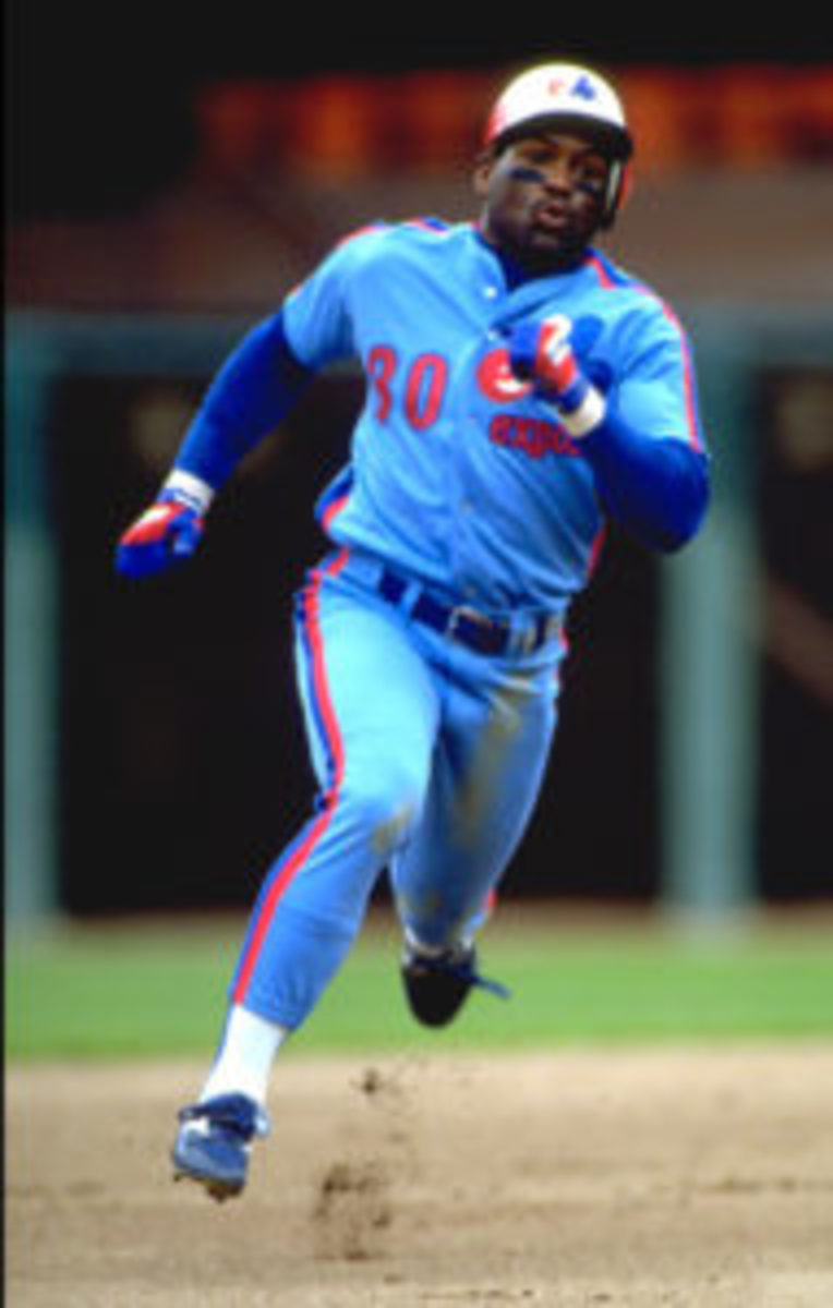 Tim Raines was always a threat on the basepaths during his career, and is often considered the second best leadoff hitter of all-time. (Otto Greule Jr / Stringe/Getty images sport)