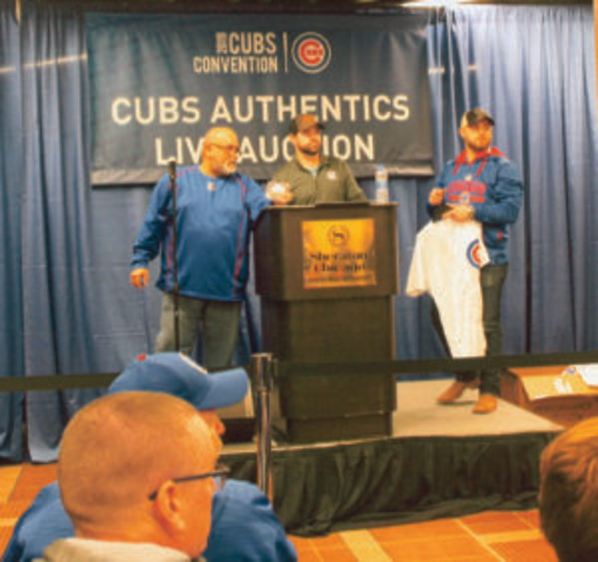 Plenty of game-used Cubs memorabilia was auctioned during the 2019 Cubs Convention.