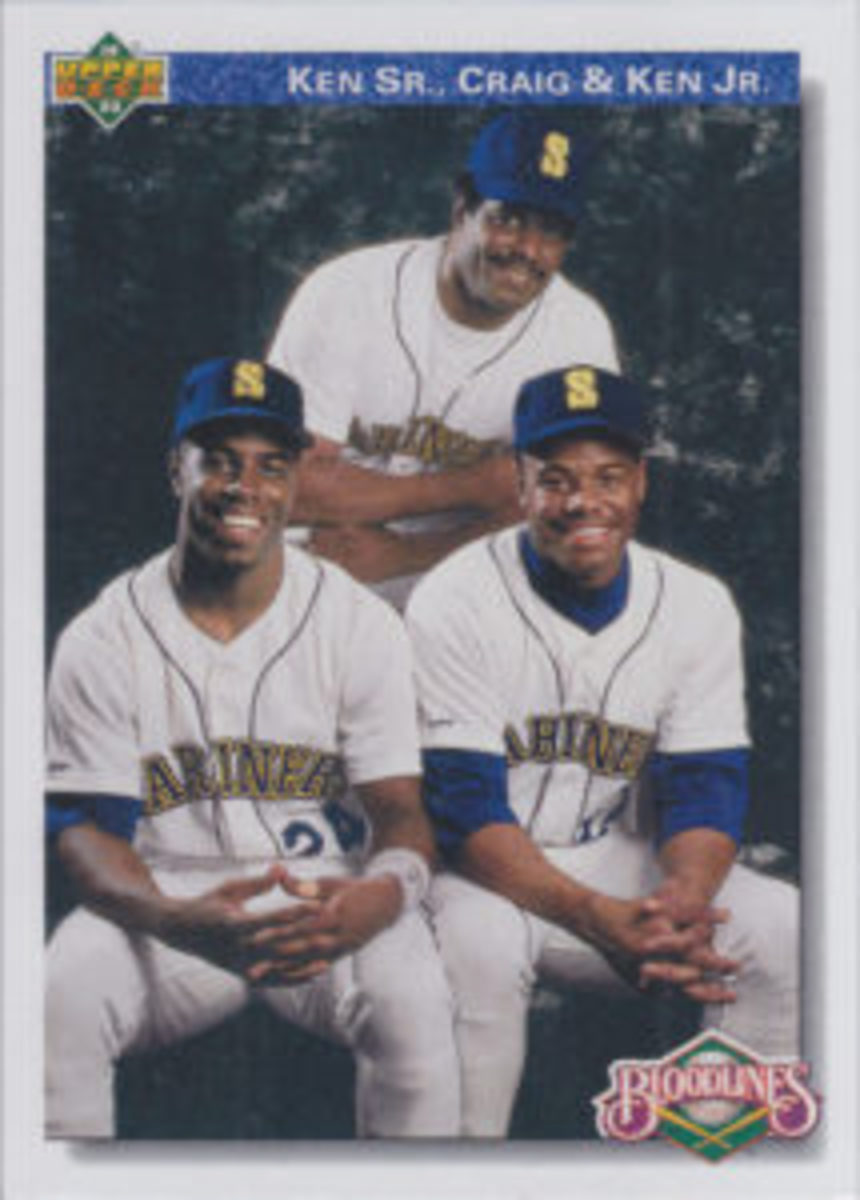 Ken Griffey, Sr., along with sons Ken Griffey, Jr. and Craig Griffey, were showcased on a card in the 1992 Upper Deck set.