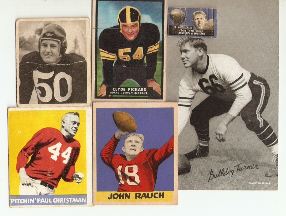 Bowman, Topps, Leaf and the Exhibit Supply Co. issued cards between 1948-51.
