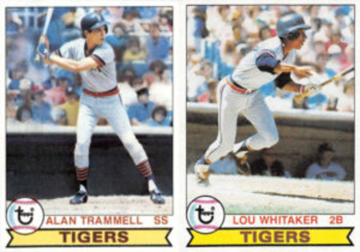 Alan Trammell and Lou Whitaker moved up the Detroit Tigers' minor league system together and were the double-play combo for the Tigers for 19 years.