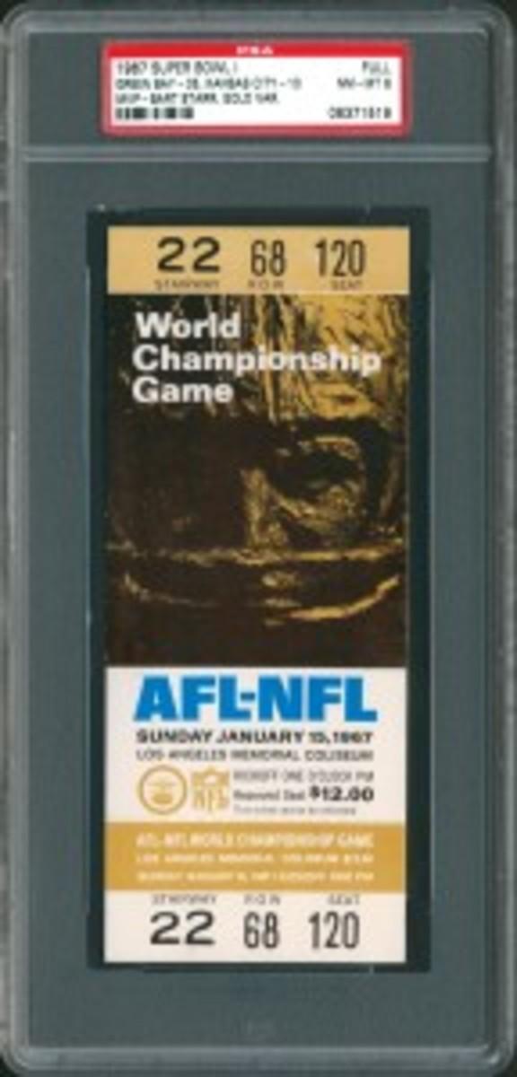 1967 Super Bowl ticket