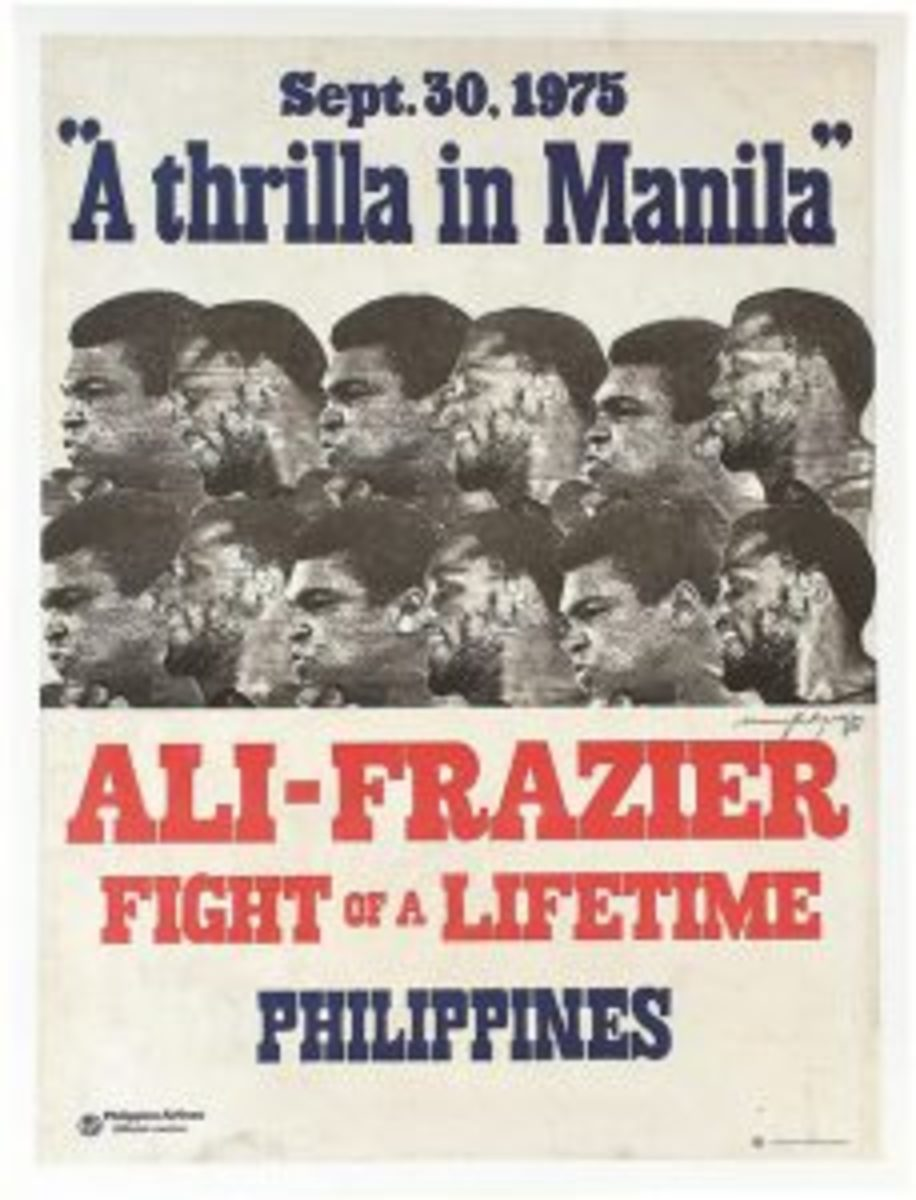 'Thrilla in Manilla' poster in 'The Greatest Auction'