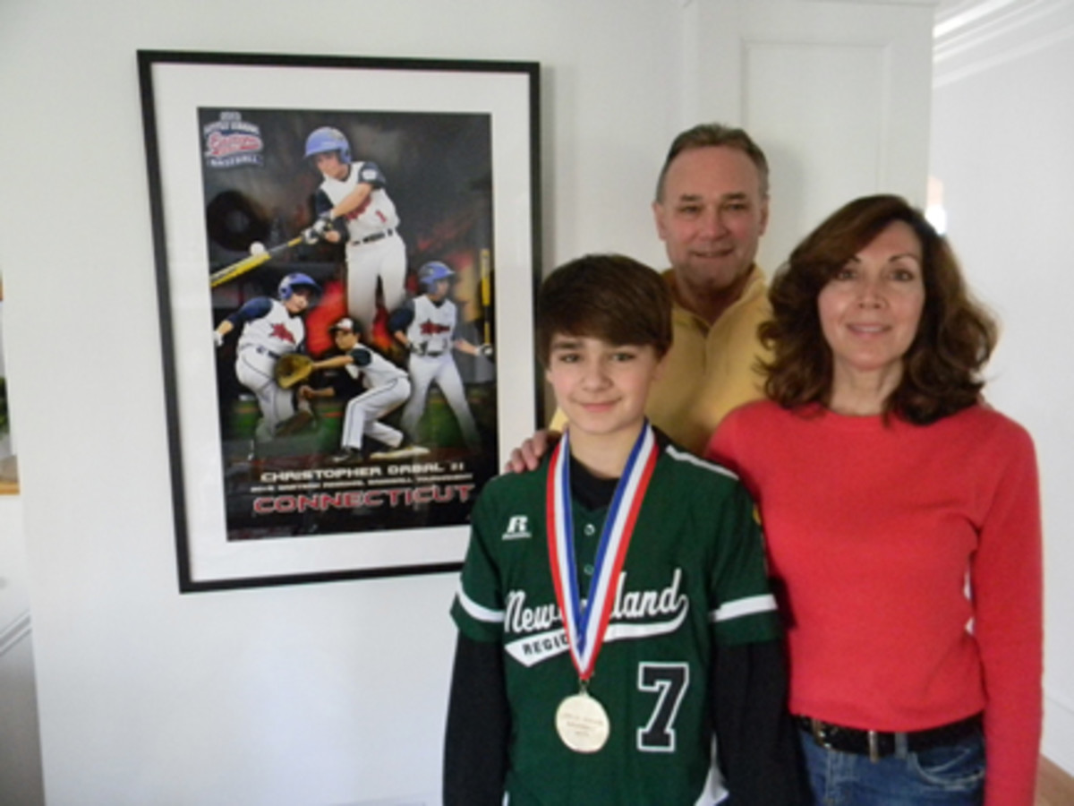 Chris Drbal and his parents, John and Lisa, said the Little League World Series was a whirlwind experience filled with a lifetime of memories. Paul Ferrante photo.