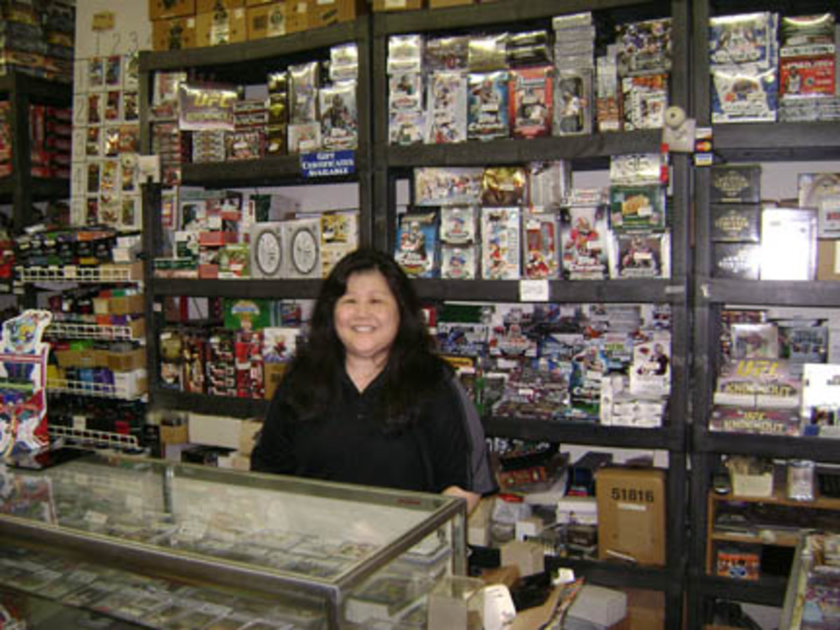 Paula Nakata has run Paula's Sports Cards, Etc. for 25 years, located at the Makiki Shopping Village near Waikiki Beach. With the lack of a home-state professional team, Paula says she finds collectors of many different teams and players, which helps boost business.
