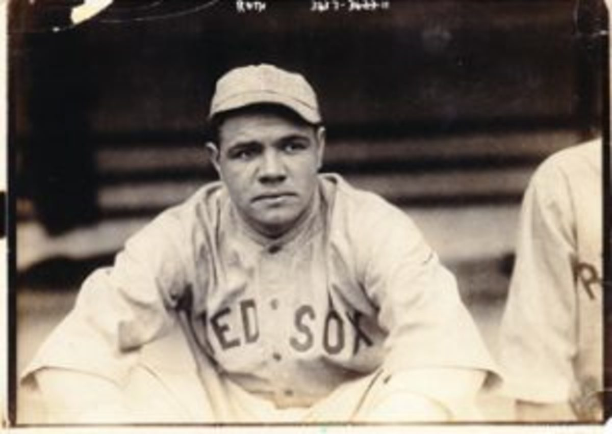 A photo of Babe Ruth from 1915 featuring him in a Boston Red Sox uniform is one of the many vintage items available in the Winter Rarities Auction hosted by Memory Lane. The photo has a starting bid of $1,250. The auction is open for bidding through Jan. 14.