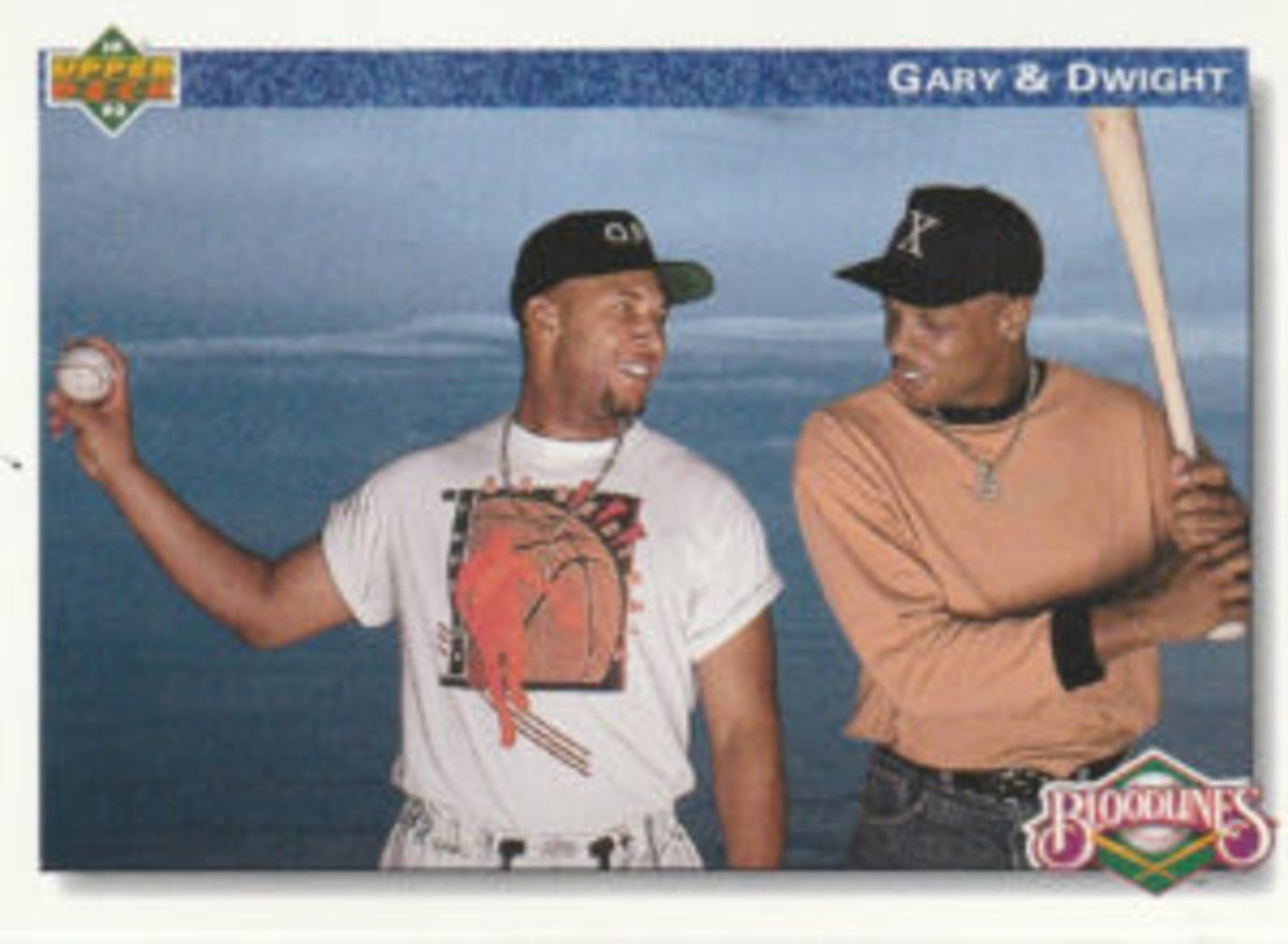 """A subset captioned """"Bloodlines Set"""" in the 1992 Upper Deck Baseball set includes a card featuring major league cousins, Gary Sheffield and Dwight Gooden."""