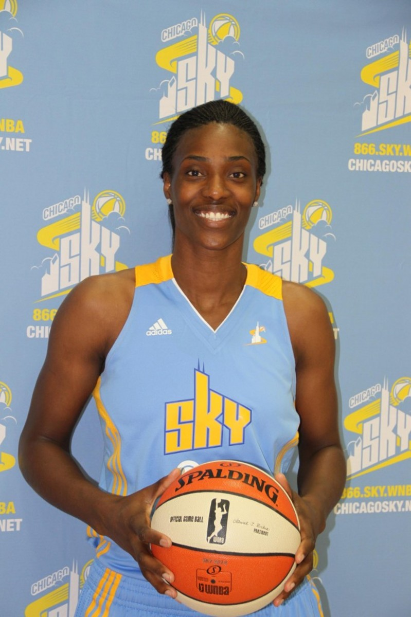 Chicago Sky center Sylvia Fowles has been named to the 2014 WNBA All- Defensive Second Team. Fowles, who has captured four WNBA All-Defensive First Team awards, earned the Second Team honor for the second time in her career as she propelled the Sky to back-to-back postseason appearances. Photo by Ross Forman