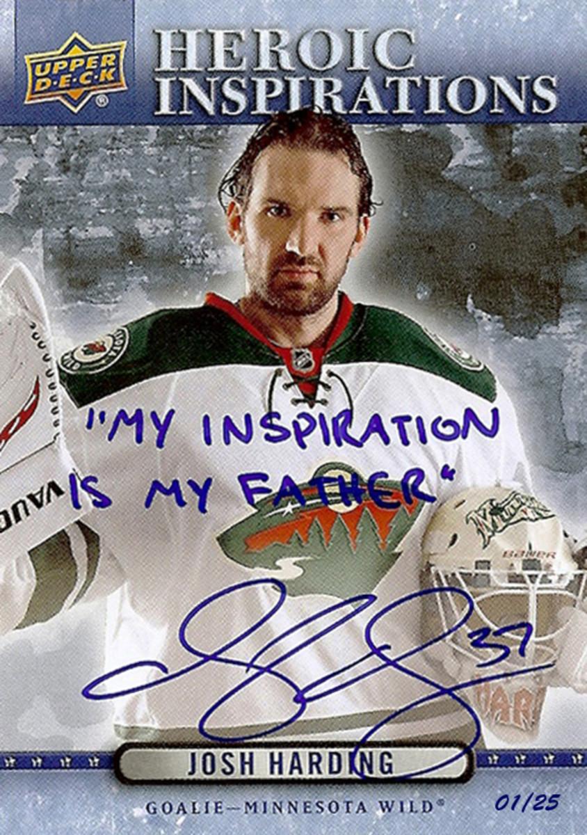 Upper-Deck-Heroic-Inspirations-Josh-Harding-Autograph-Inscription-14-15-...