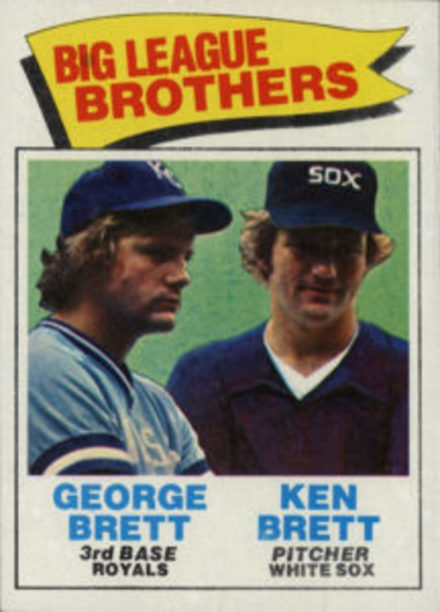 The 1977 Topps Baseball set included several brothers combos, including George and Ken Brett.