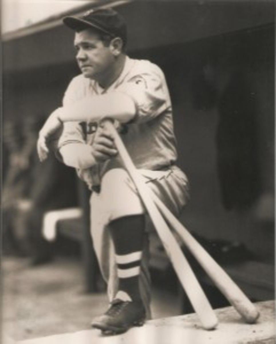 The Babe never looked happy as a Brave.