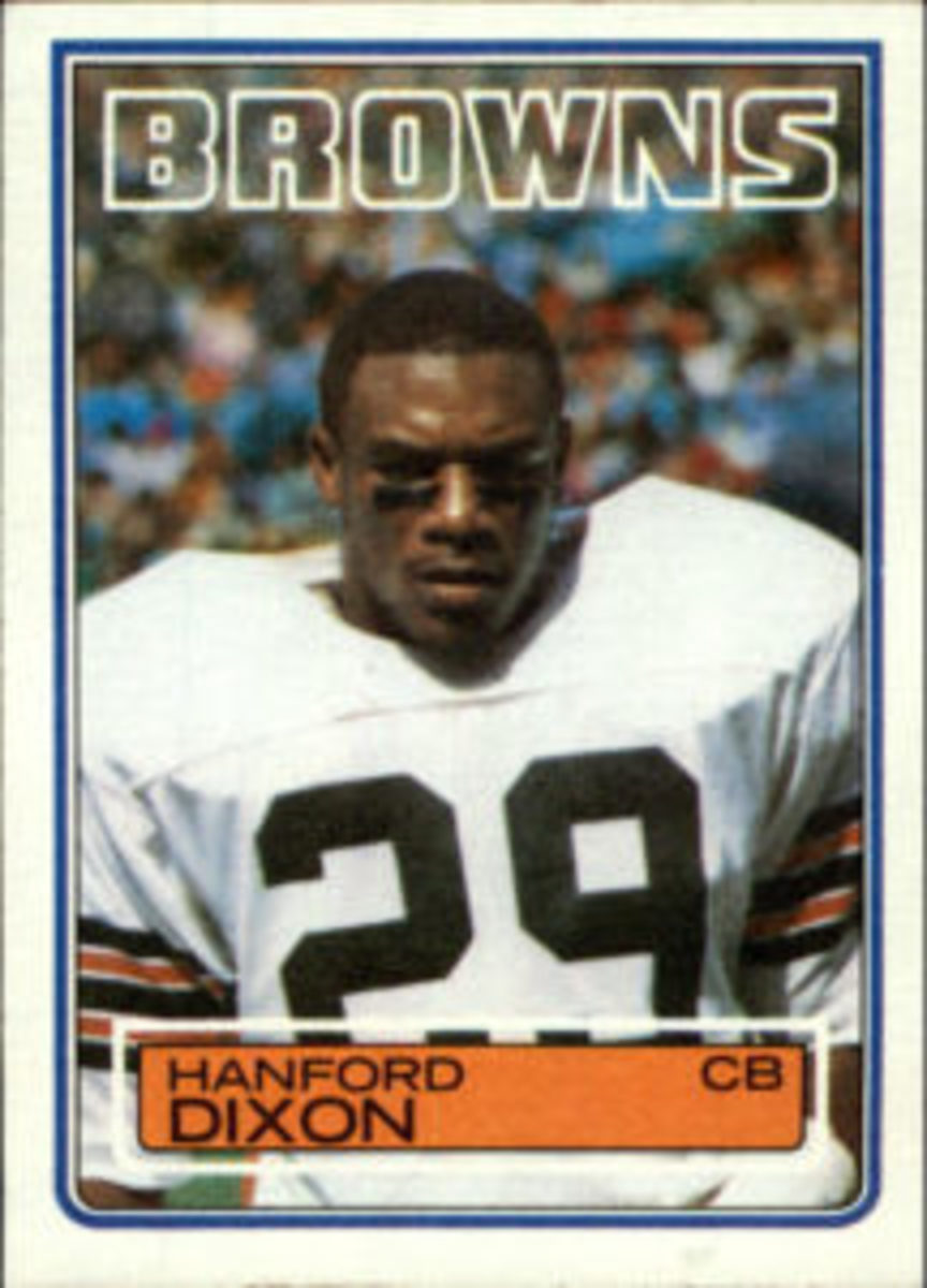 Hanford Dixon's 1983 Topps Football cards.