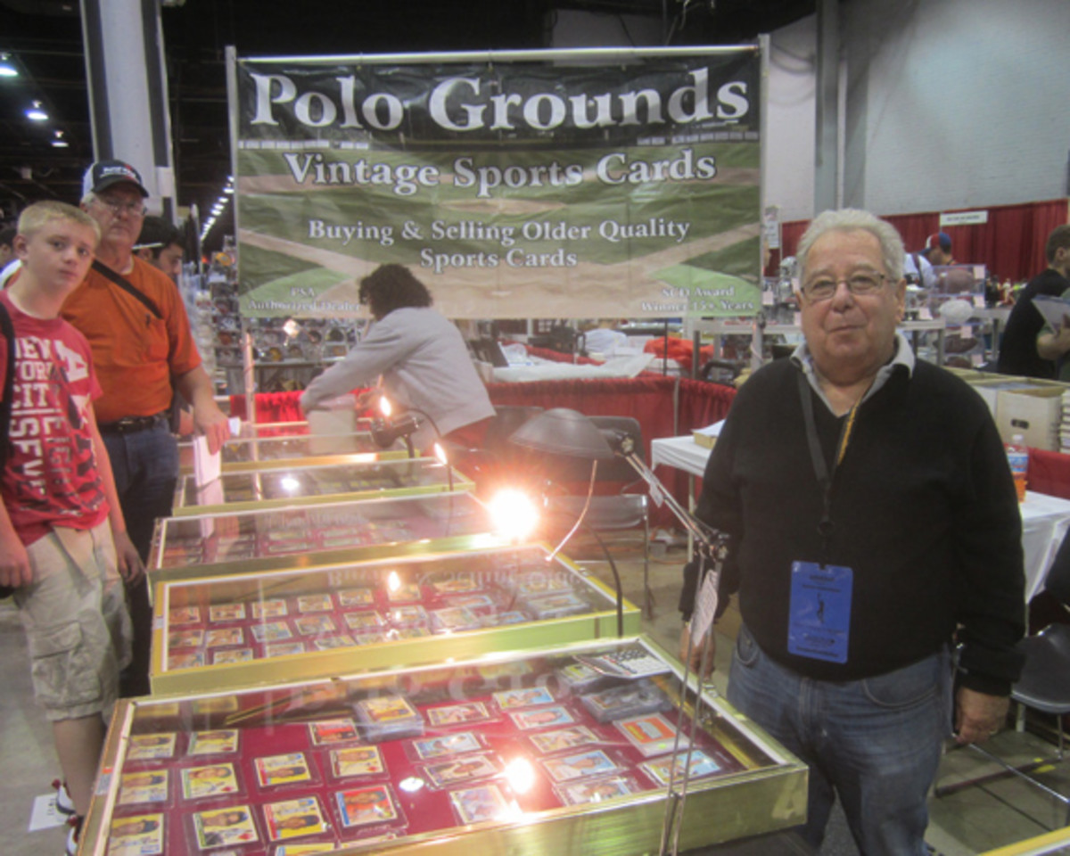 Bill Nathanson of the Polo Grounds of Plantation, Fla., was busy but happy to pause for a photo.
