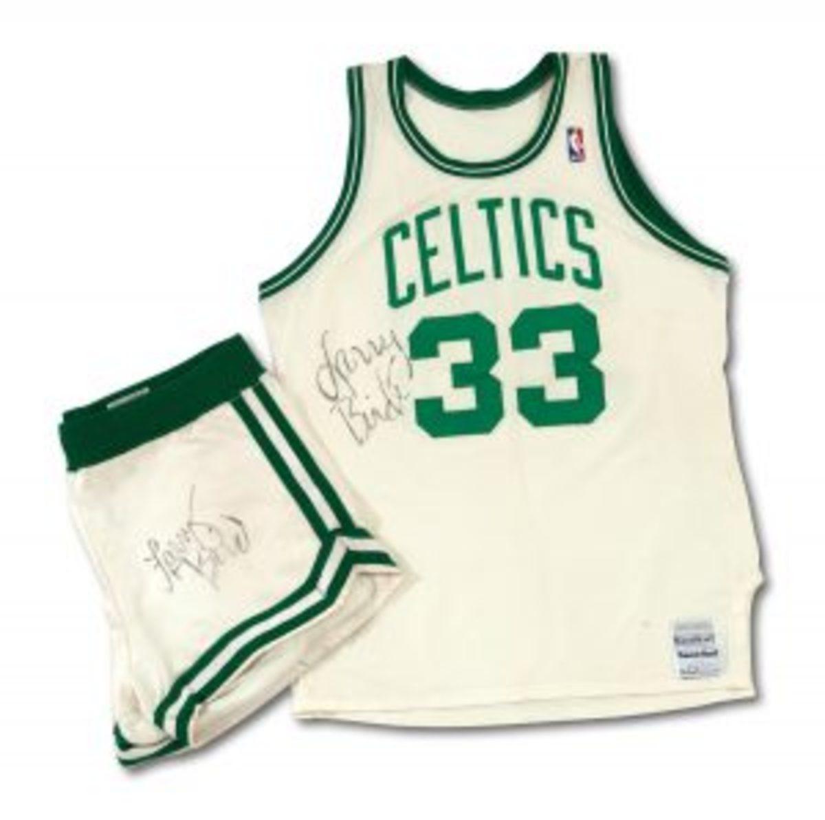 Larry Bird's 1986-87 Signed, Game-Worn Celtics Uniform