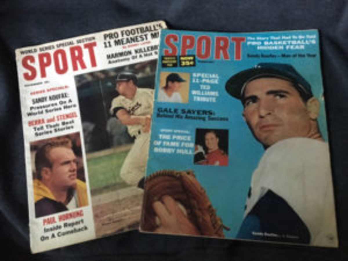 SPORT magazine covers from November 1964 and February 1966.