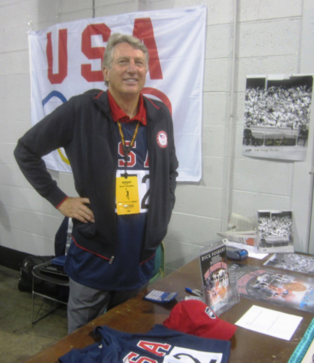Dick Fosbury, the most famous American Olympic high jumper, was there to represent World Olympians.