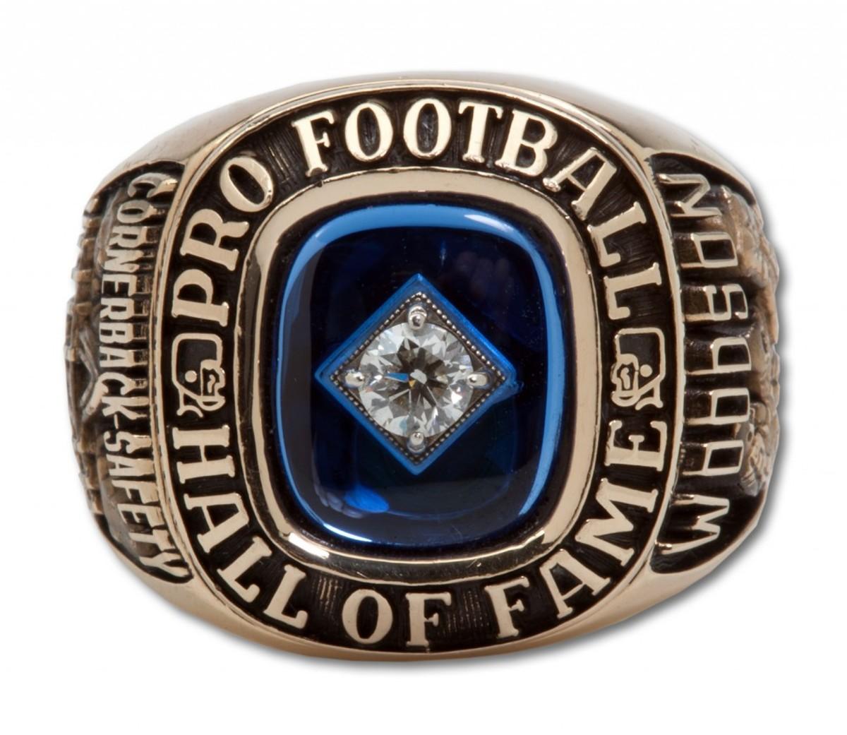 Woodson's 2009 NFL HOF Ring