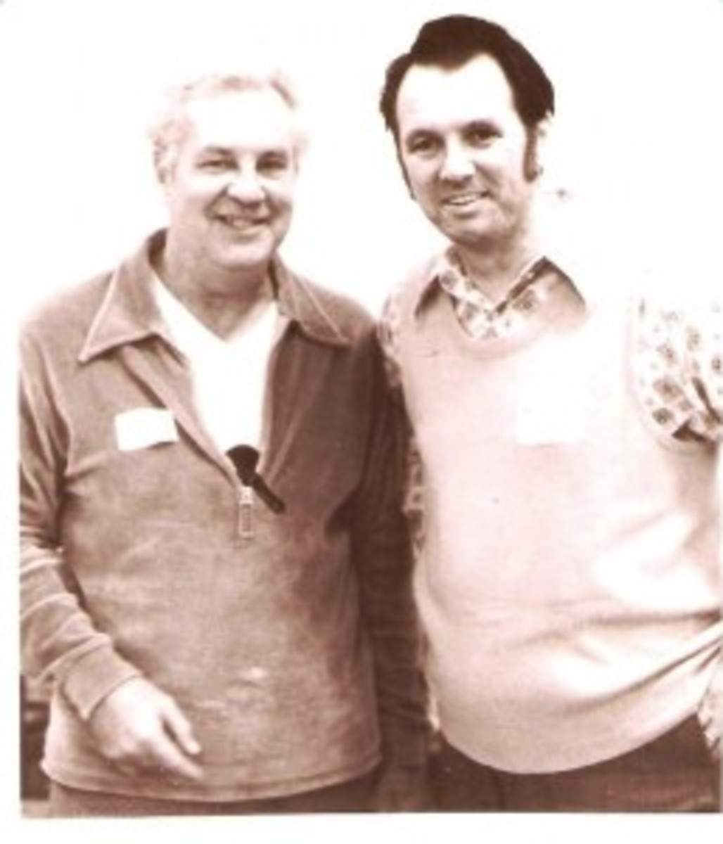 The Rays – Hess, left, and his friend Ray Medeiros, right, 1973.