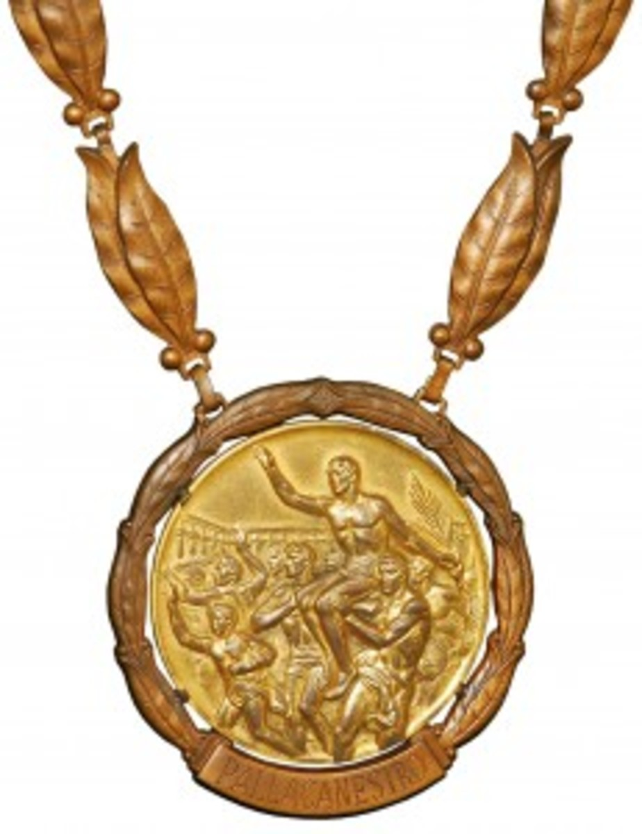 1960 Jerry Lucas USA Basketball Olympic Gold Medal, with Lucas and Hall of Fame LOAs, first one of its type ever offered. Grey Flannel Auctions image.