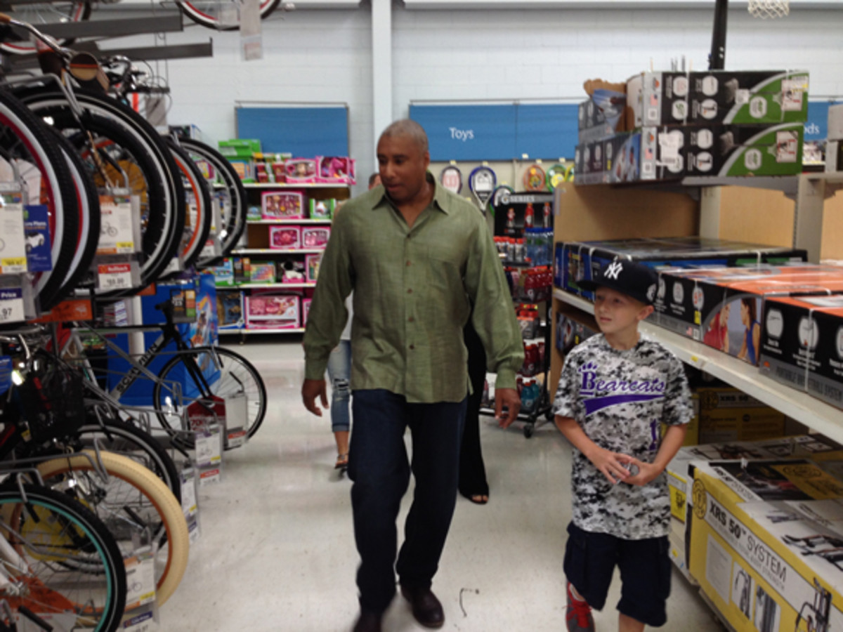 As part of the event, Rychcik was given $200 to spend as he pleased. After a test drive of various bicycles with Williams, he made his choice.