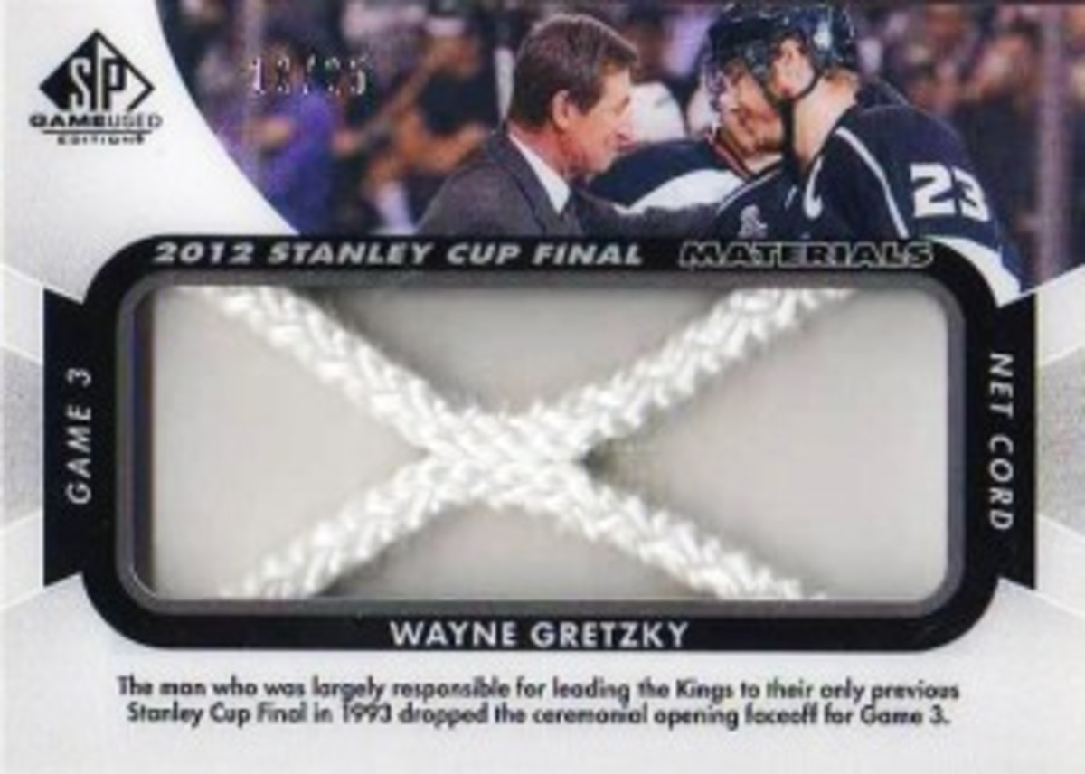2012-13-NHL-SP-Game-Used-Stanley-Cup-Final-Materials-Net-Cord-Wayne-Gretzky-Dustin-Brown