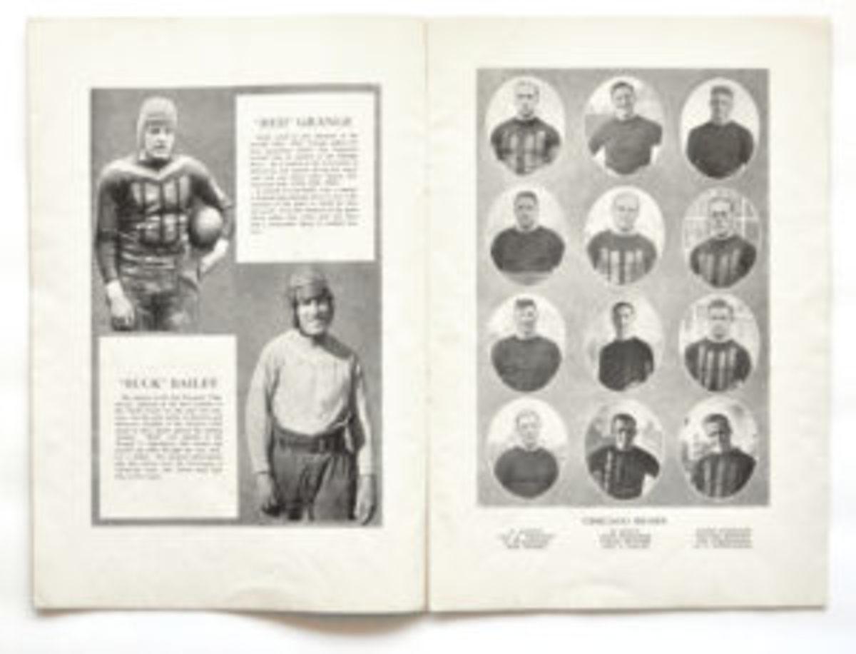 The inside of the 1926 Chicago Bears Program